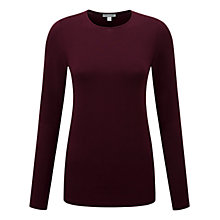 Buy Pure Collection Dartmouth Soft Jersey Top, Winter Berry Online at johnlewis.com
