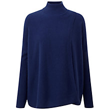 Buy Pure Collection Bailey Wrap Poncho, Sapphire Online at johnlewis.com