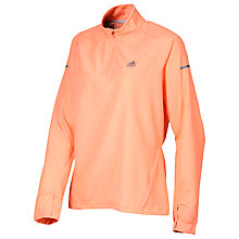Buy Adidas Sequencials Climaproof Half Zip Run Anorak, Coral Online at johnlewis.com