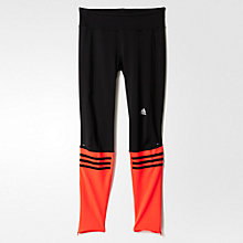 Buy Adidas Response Long Running Tights, Black/Orange Online at johnlewis.com
