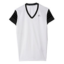 Buy Adidas Response Short Sleeve Cap T-Shirt, White Online at johnlewis.com