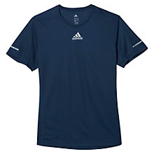 Buy Adidas Run T-Shirt, Mineral Blue Online at johnlewis.com