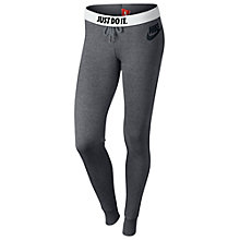 Buy Nike Rally Tight Training Trousers, Grey Online at johnlewis.com