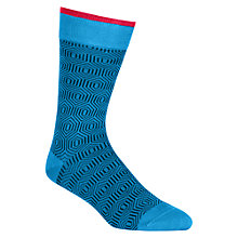 Buy Duchamp Hexagon Geo Socks, Blue Online at johnlewis.com