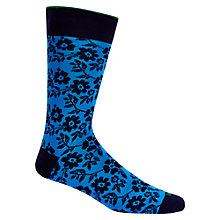 Buy Duchamp Duplic Floral Socks, Blue Online at johnlewis.com