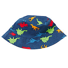 Buy John Lewis Dino Print Bucket Hat, Navy Online at johnlewis.com