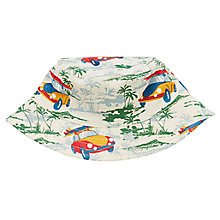 Buy John Lewis Surf Car Print Bucket Hat, Cream Online at johnlewis.com