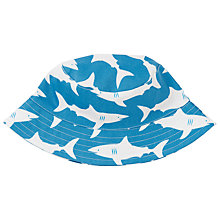 Buy John Lewis Children's Shark Print Bucket Hat, Blue Online at johnlewis.com