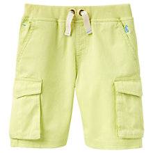 Buy Little Joule Boys' Bob Cargo Shorts, Lime Online at johnlewis.com