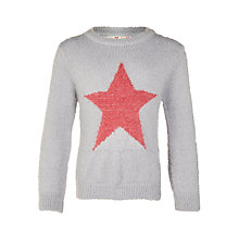 Buy John Lewis Girls' Eyelash Jumper, Grey Online at johnlewis.com