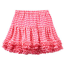 Buy Little Joule Girls' Bunting Print Skirt, Pink Online at johnlewis.com
