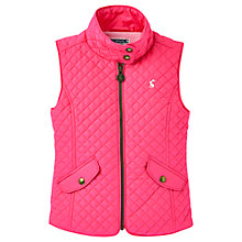Buy Little Joule Girls' Quilt Gilet, Pink Online at johnlewis.com