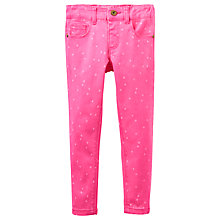 Buy Little Joule Girls' Star Print Jeans, Pink Online at johnlewis.com