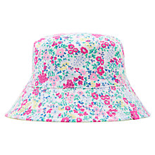 Buy Joules Girls' Reversible Ditsy Print Hat, Multi Online at johnlewis.com