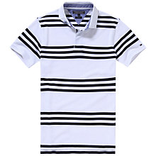 Buy Tommy Hilfiger Brody Stripe Polo Shirt, Classic White/Navy Blazer Online at johnlewis.com