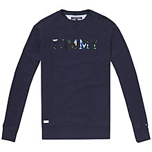Buy Tommy Hilfiger Pando Crew Neck Jersey Top, Navy Blazer Online at johnlewis.com
