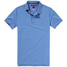 Buy Tommy Hilfiger Slim Fit Polo Shirt, Vintage Blue Online at johnlewis.com
