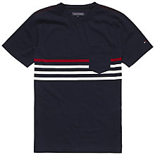 Buy Tommy Hilfiger Karl Stripe Pocket T-Shirt, Navy Blazer/Multi Online at johnlewis.com