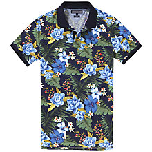 Buy Tommy Hilfiger Floral Print Polo Shirt, Multi Online at johnlewis.com