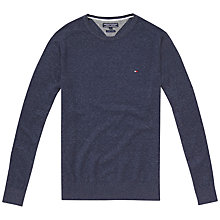 Buy Tommy Hilfiger Crew Neck Jumper, Navy Blazer Heather Online at johnlewis.com