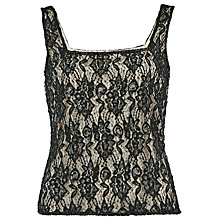 Buy Gina Bacconi Beaded Lace Cami Top, Black Online at johnlewis.com