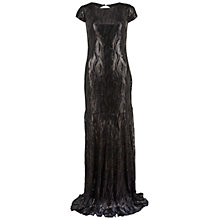 Buy Gina Bacconi Sequin Maxi Dress, Black Online at johnlewis.com