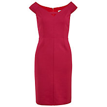 Buy Gina Bacconi Off The Shoulder Scuba Dress, Raspberry Online at johnlewis.com