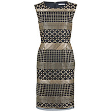 Buy Gina Bacconi Embroidered Panel Dress, Black/Gold Online at johnlewis.com