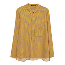 Buy Violeta by Mango Flowy Printed Blouse, Medium Yellow Online at johnlewis.com