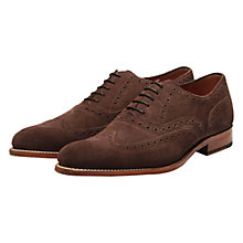 Buy Grenson Dylan Suede Oxford Brogues, Chocolate Online at johnlewis.com