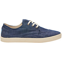 Buy TOMS Paseo Chambray Trainers, Blue Online at johnlewis.com