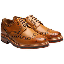 Buy Grenson Archie Leather Gibson Brogues, Tan Online at johnlewis.com
