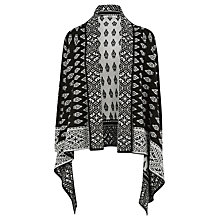 Buy Oasis Folk Waterfall Cardigan, Black and White Online at johnlewis.com