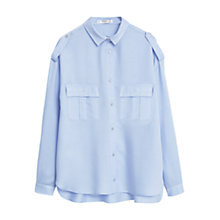 Buy Mango Modal Shirt, Light Pastel Blue Online at johnlewis.com