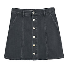 Buy Mango Buttoned Denim Skirt, Open Grey Online at johnlewis.com