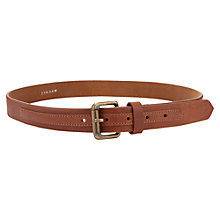 Buy Jigsaw Leather Jeans Belt, Tan Online at johnlewis.com