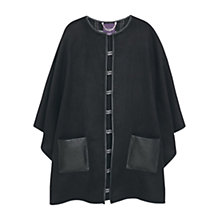Buy Violeta by Mango Pockets Reversible Cape, Black Online at johnlewis.com