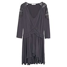 Buy Mango Crochet Dress, Charcoal Online at johnlewis.com