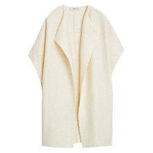 Buy Mango Textured Lapels Cardigan, Light Beige Online at johnlewis.com