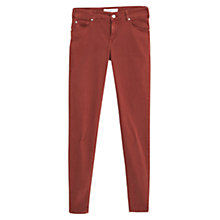 Buy Mango Lektra Skinny Jeans, Medium Orange Online at johnlewis.com