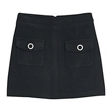 Buy Mango Metal Skirt, Black Online at johnlewis.com