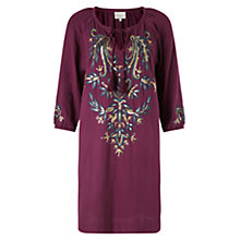 Buy East Lamisa Embroidered Tunic Dress, Plum Online at johnlewis.com