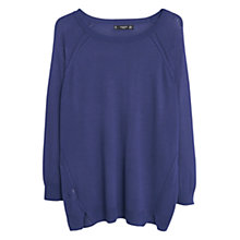 Buy Mango Fine-Knit Sweater, Navy Online at johnlewis.com