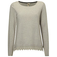 Buy White Stuff Plain Lace Knit, Soft Grey Online at johnlewis.com