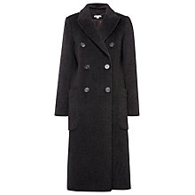 Buy Whistles Emma Double Breasted Coat, Dark Grey Online at johnlewis.com
