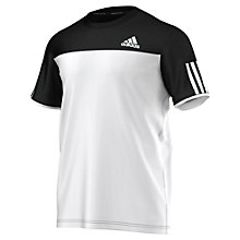 Buy Adidas Club T-Shirt, Black/White Online at johnlewis.com