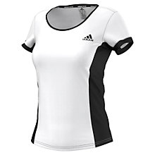 Buy Adidas Court Crew Top, White/Black Online at johnlewis.com