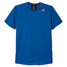 Buy Adidas Supernova Short Sleeve Running Top, Blue Online at johnlewis.com