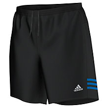 "Buy Adidas Response 7"" Shorts, Black/Blue Online at johnlewis.com"
