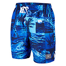 "Buy Speedo Tropics Leisure 18"" Watershorts, Blue Online at johnlewis.com"